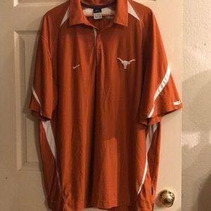 Nike dry fit Texas Longhorns polo. XXL